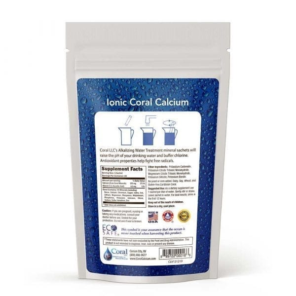 coral alkalizing water treatment pouch