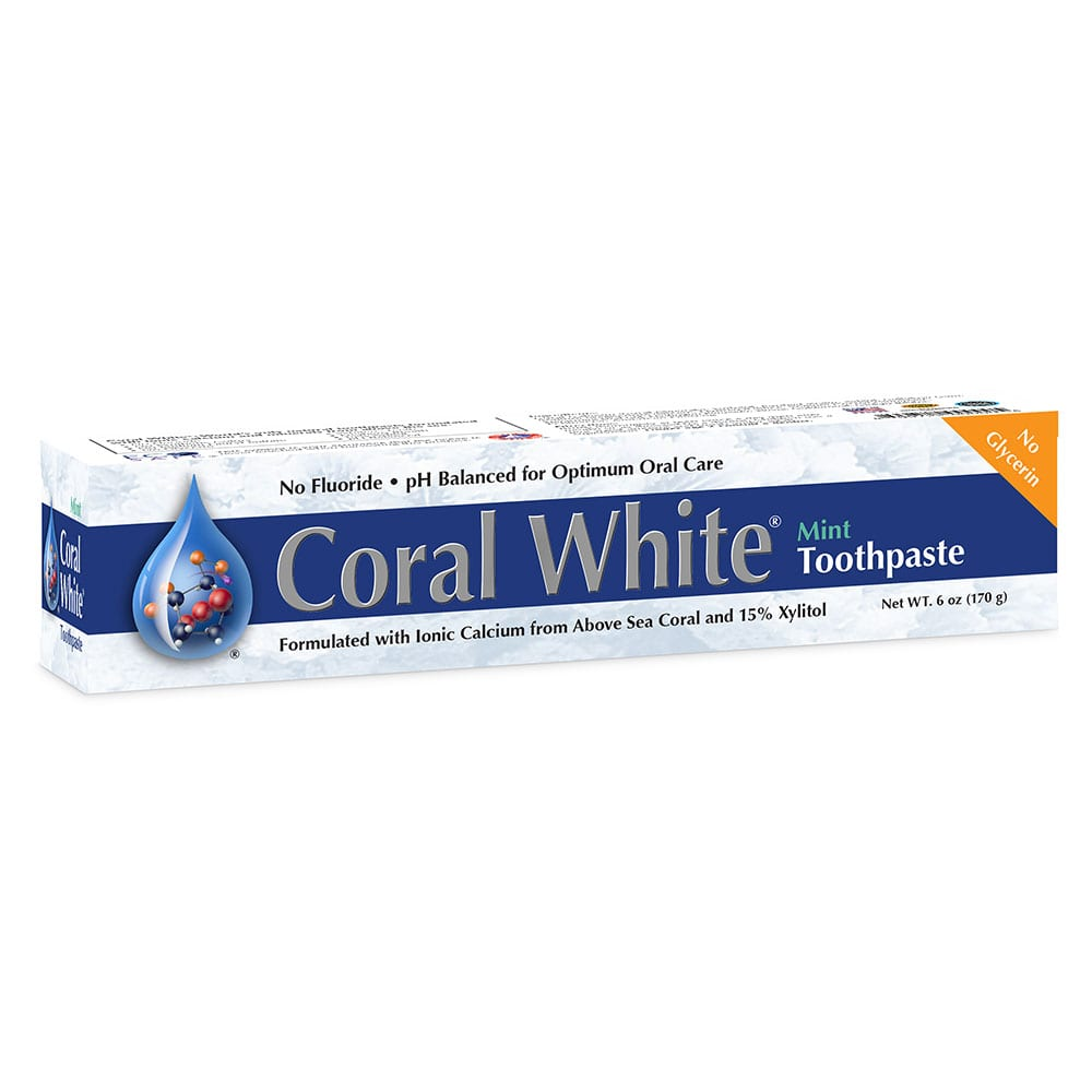 coral white toothpaste