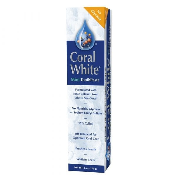coral white toothpaste