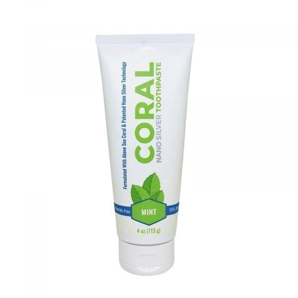 coral nano silver mint toothpaste