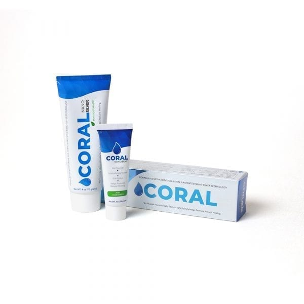 Coral NanoSilver Toothpaste Mint 4oz and 1oz